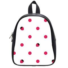 Strawberry Dots Pink School Bag (small) by strawberrymilk