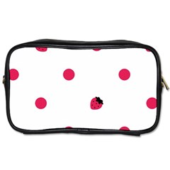 Strawberry Dots Pink Toiletries Bag (two Sides) by strawberrymilk