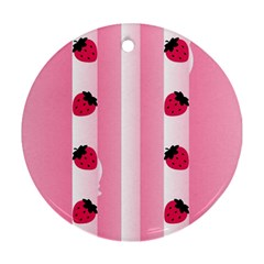 Strawberry Cream Cake Ornament (round) by strawberrymilk