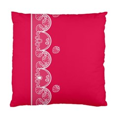 Strawberry Lace White With Pink Cushion Case (one Side) by strawberrymilk