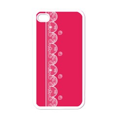 Strawberry Lace White With Pink Apple Iphone 4 Case (white) by strawberrymilk