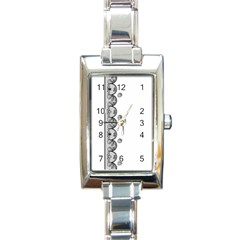 Lace White Dots White With Black Rectangular Italian Charm Watch by strawberrymilk