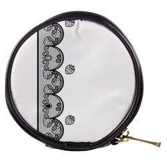 Lace White Dots White With Black Mini Makeup Bag