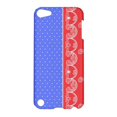 Lace Dots With Rose Purple Apple Ipod Touch 5 Hardshell Case by strawberrymilk