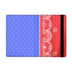 Lace Dots With Rose Purple Apple Ipad Mini Flip Case by strawberrymilk