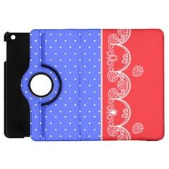 Lace Dots With Rose Purple Apple Ipad Mini Flip 360 Case