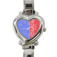 Lace Dots With Rose Purple Heart Italian Charm Watch by strawberrymilk