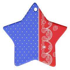 Lace Dots With Rose Purple Star Ornament (two Sides)