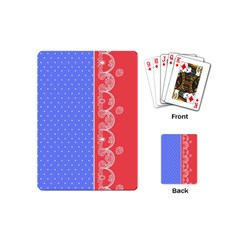 Lace Dots With Rose Purple Playing Cards (mini) by strawberrymilk