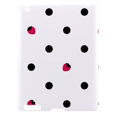 Strawberry Dots Black Apple Ipad 3/4 Hardshell Case by strawberrymilk