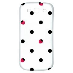 Strawberry Dots Black Samsung Galaxy S3 S Iii Classic Hardshell Back Case by strawberrymilk