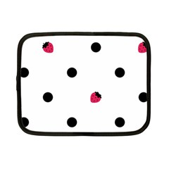 Strawberry Dots Black Netbook Case (small) by strawberrymilk