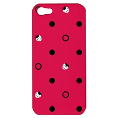 Strawberry Dots Black With Pink Apple iPhone 5 Hardshell Case