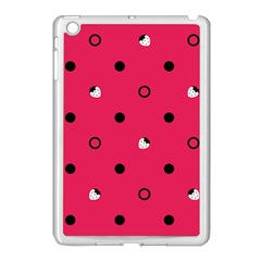 Strawberry Dots Black With Pink Apple Ipad Mini Case (white) by strawberrymilk