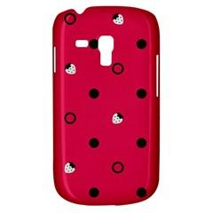 Strawberry Dots Black With Pink Samsung Galaxy S3 Mini I8190 Hardshell Case