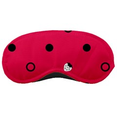 Strawberry Dots Black With Pink Sleeping Mask