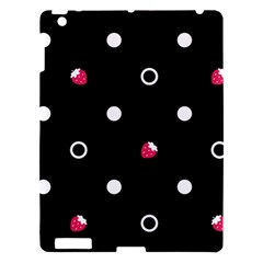 Strawberry Dots White With Black Apple Ipad 3/4 Hardshell Case by strawberrymilk