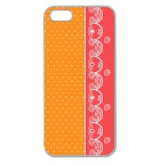 Lace Dots With Rose Gold Apple Seamless Iphone 5 Case (clear) by strawberrymilk