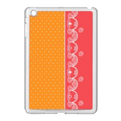 Lace Dots With Rose Gold Apple Ipad Mini Case (white) by strawberrymilk