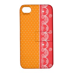 Lace Dots With Rose Gold Apple Iphone 4/4s Hardshell Case With Stand by strawberrymilk