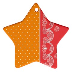 Lace Dots With Rose Gold Ornament (star) by strawberrymilk