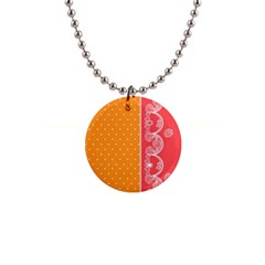 Lace Dots With Rose Gold 1  Button Necklace by strawberrymilk