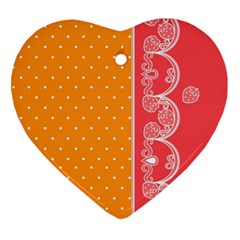 Lace Dots With Rose Gold Heart Ornament (two Sides)
