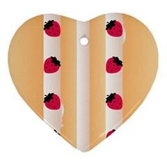 Origin Strawberry Cream Cake Ornament (heart) by strawberrymilk