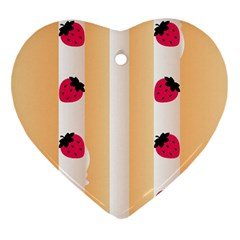 Origin Strawberry Cream Cake Heart Ornament (two Sides) by strawberrymilk
