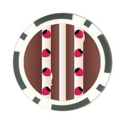 Choco Strawberry Cream Cake Poker Chip Card Guard (10 Pack)