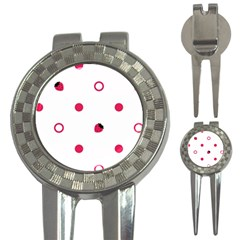 Strawberry Circles Pink Golf Pitchfork & Ball Marker
