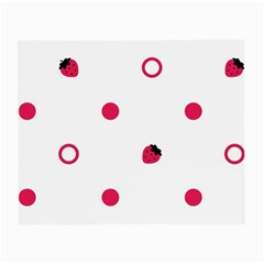 Strawberry Circles Pink Glasses Cleaning Cloth by strawberrymilk
