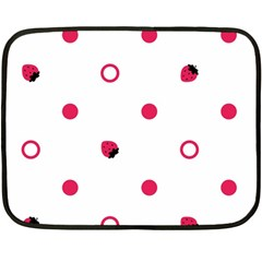 Strawberry Circles Pink Twin-sided Mini Fleece Blanket
