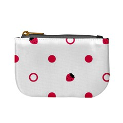 Strawberry Circles Pink Coin Change Purse by strawberrymilk