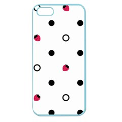 Strawberry Circles Black Apple Seamless Iphone 5 Case (color) by strawberrymilk