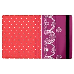 Lace Dots With Violet Rose Apple Ipad 2 Flip Case by strawberrymilk