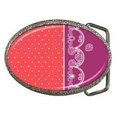 Lace Dots With Violet Rose Belt Buckle by strawberrymilk