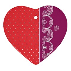 Lace Dots With Violet Rose Heart Ornament (two Sides) by strawberrymilk
