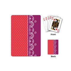 Lace Dots With Violet Rose Playing Cards (mini) by strawberrymilk