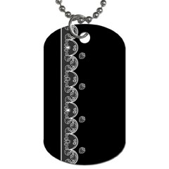 Strawberry Lace White With Black Twin Sided Dog Tag by strawberrymilk