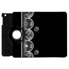 Strawberry Lace White With Black Apple Ipad Mini Flip 360 Case by strawberrymilk