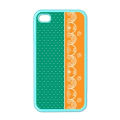 Lace Dots Gold Emerald Apple Iphone 4 Case (color) by strawberrymilk