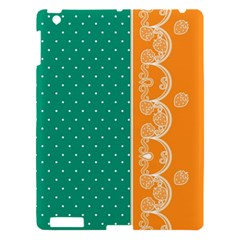 Lace Dots Gold Emerald Apple Ipad 3/4 Hardshell Case by strawberrymilk