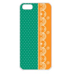 Lace Dots Gold Emerald Apple Iphone 5 Seamless Case (white)