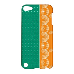 Lace Dots Gold Emerald Apple Ipod Touch 5 Hardshell Case by strawberrymilk