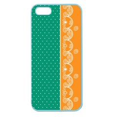 Lace Dots Gold Emerald Apple Seamless Iphone 5 Case (color) by strawberrymilk