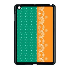 Lace Dots Gold Emerald Apple Ipad Mini Case (black)