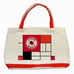 Brand Strawberry Piet Mondrian White Red Tote Bag by strawberrymilk