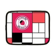 Brand Strawberry Piet Mondrian White 7  Netbook Case