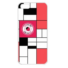 Brand Strawberry Piet Mondrian White Apple iPhone 5 Seamless Case (White)